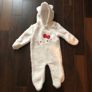 Hello Kitty Kids White Footed Warm Onesie